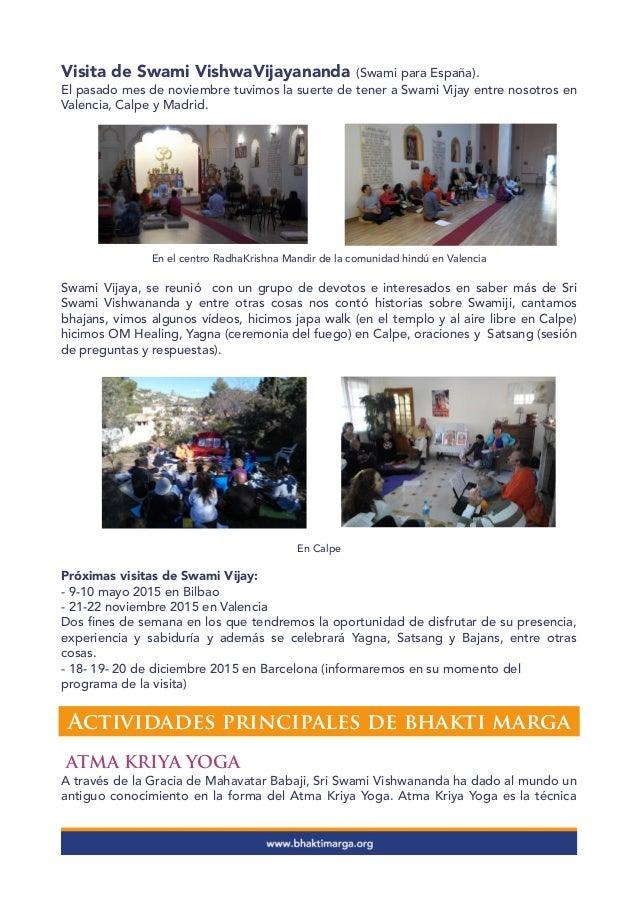 Boletín Bhakti Marga España -  diciembre 2014 Slide 3
