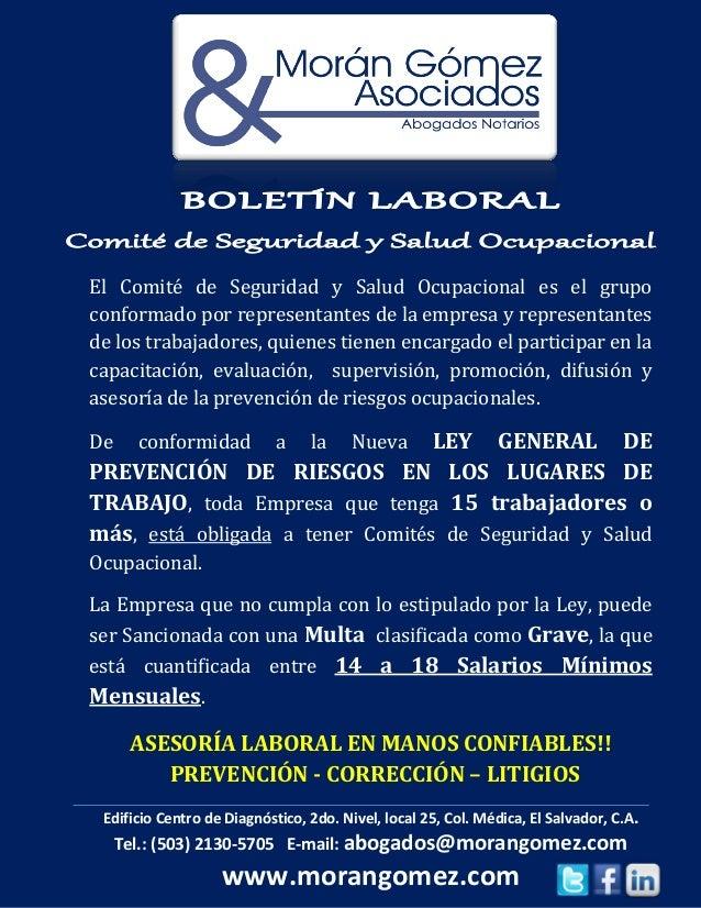 El Comité de Seguridad y Salud Ocupacional es el grupoconformado por representantes de la empresa y representantesde los t...