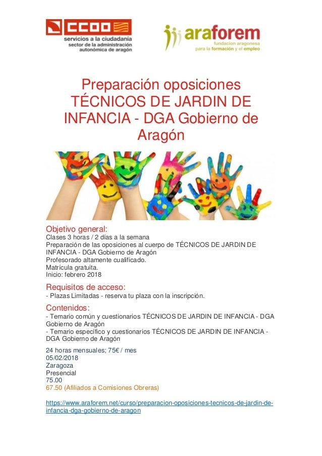 Bolet n conecta empleo especial preparaci n oposiciones en dga - Tecnico jardin de infancia ...