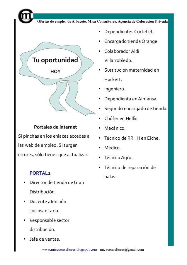 Bolet n de empleo albacete de mica consultores n 31 for Oficina de empleo de albacete