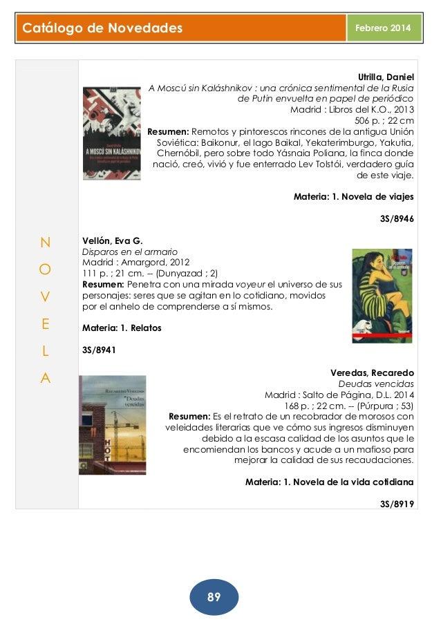 Boletin completo de Novedades. Febrero 2014. Biblioteca
