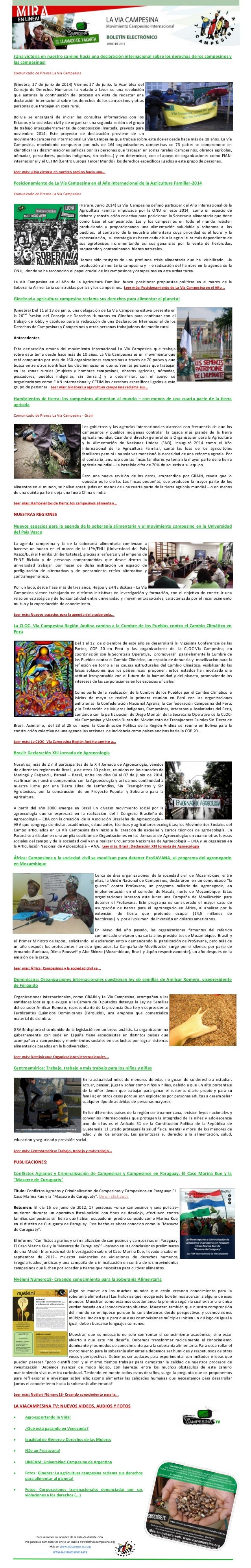 ¡Una victoria en nuestro camino hacia una declaración internacional sobre los derechos de los campesinos y las campesinas!...