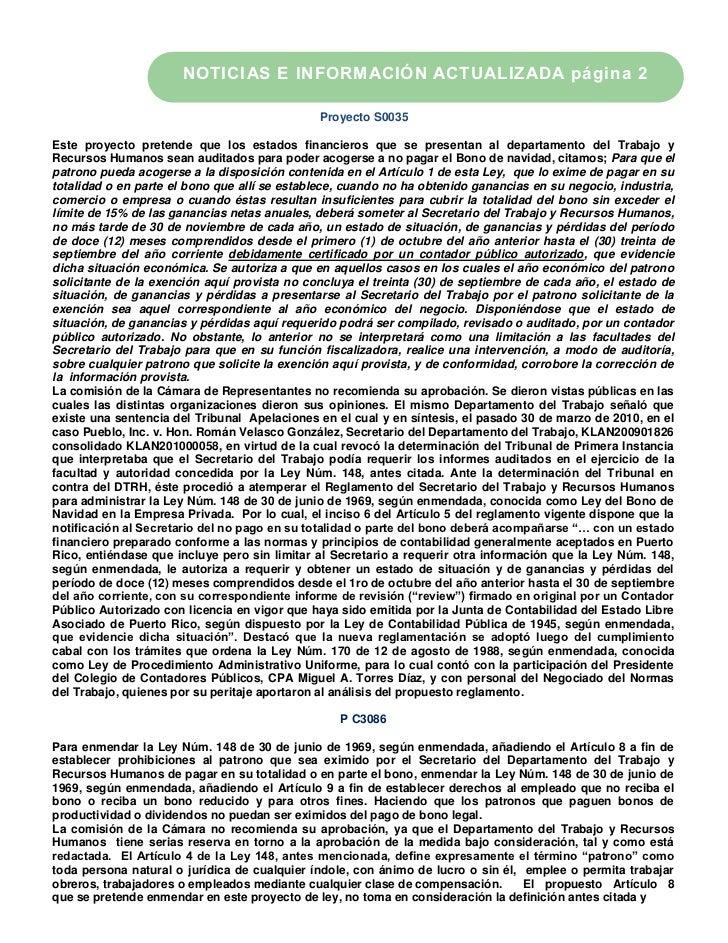 NOTICIAS E INFORMACIÓN ACTUALIZADA página 2                                              Proyecto S0035Este proyecto prete...