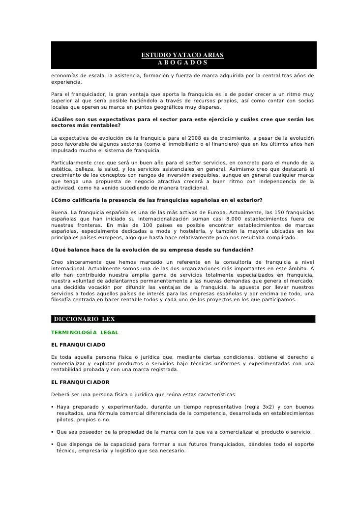 ESTUDIO YATACO ARIAS                                        ABOGADOS economías de escala, la asistencia, formación y fuerz...