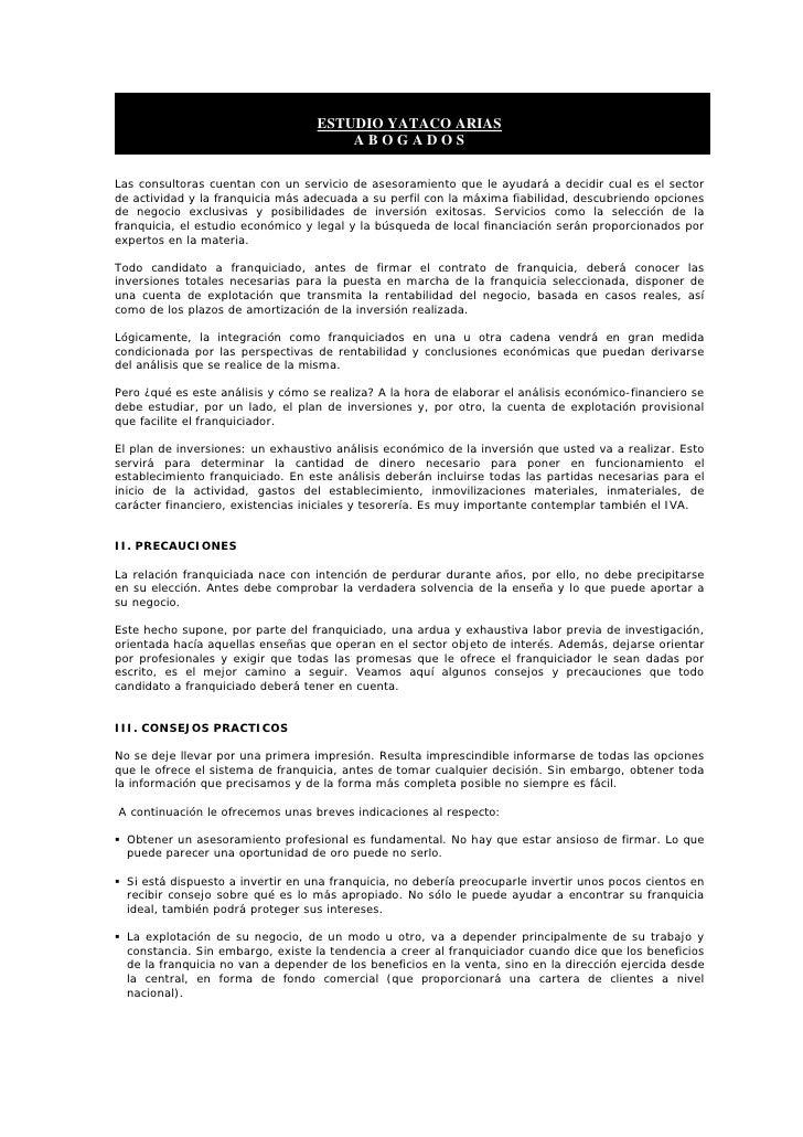 ESTUDIO YATACO ARIAS                                        ABOGADOS  Las consultoras cuentan con un servicio de asesorami...