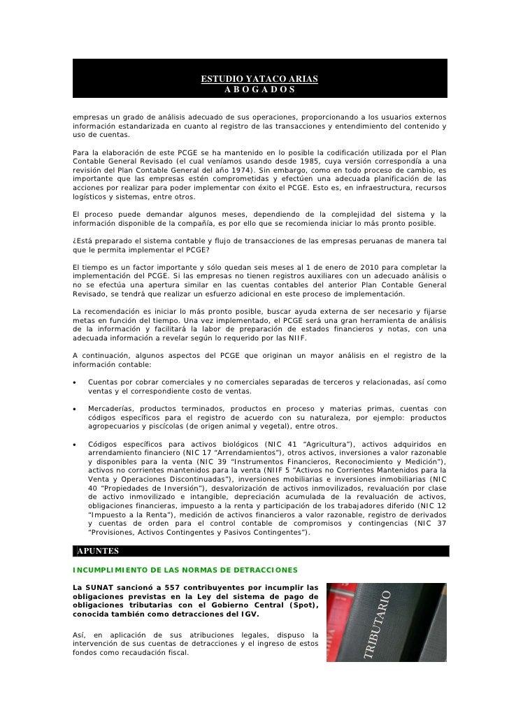 ESTUDIO YATACO ARIAS                                        ABOGADOS  empresas un grado de análisis adecuado de sus operac...