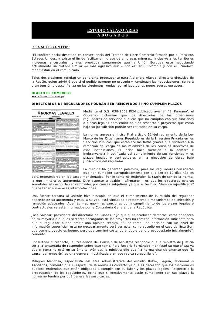 BoletíN Informativo   12 Junio 2009   Laboral Corporativo Slide 3