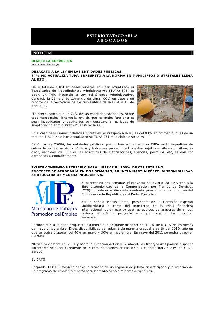 BoletíN Informativo   20 Abril 2009   Concursal ReestructuracióN E Insolvencia Empresarial Slide 3