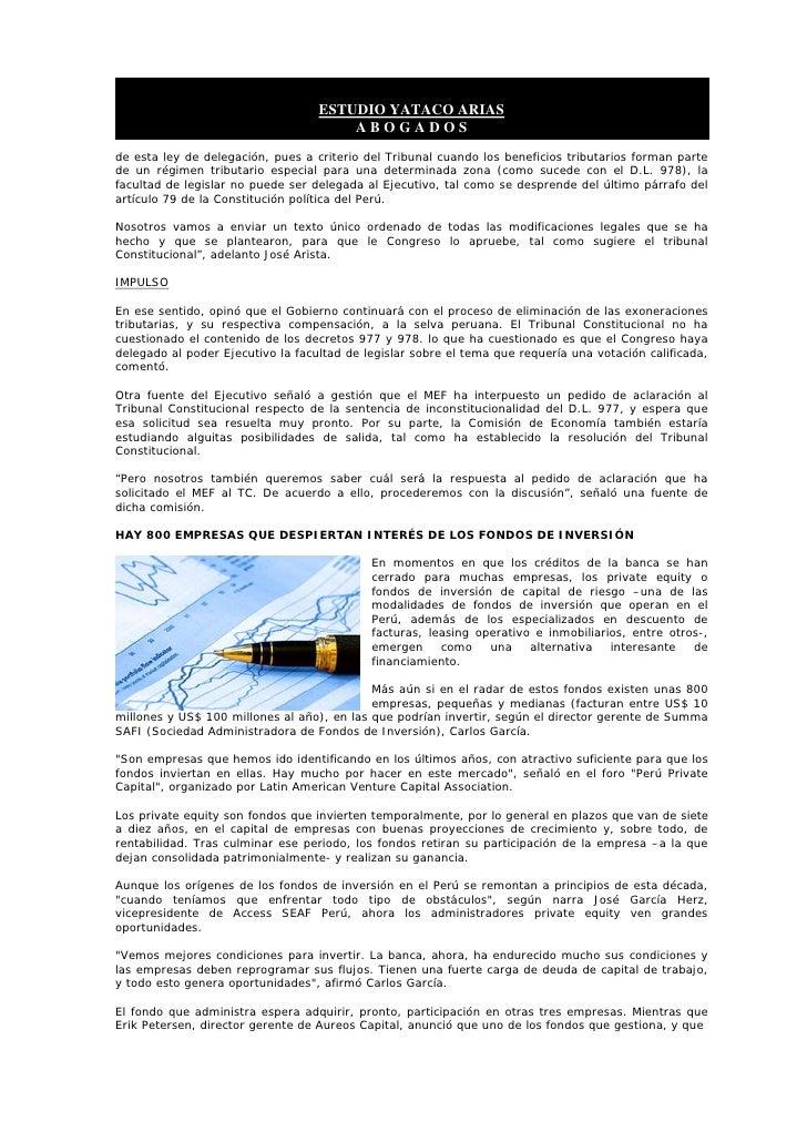ESTUDIO YATACO ARIAS                                        ABOGADOS de esta ley de delegación, pues a criterio del Tribun...