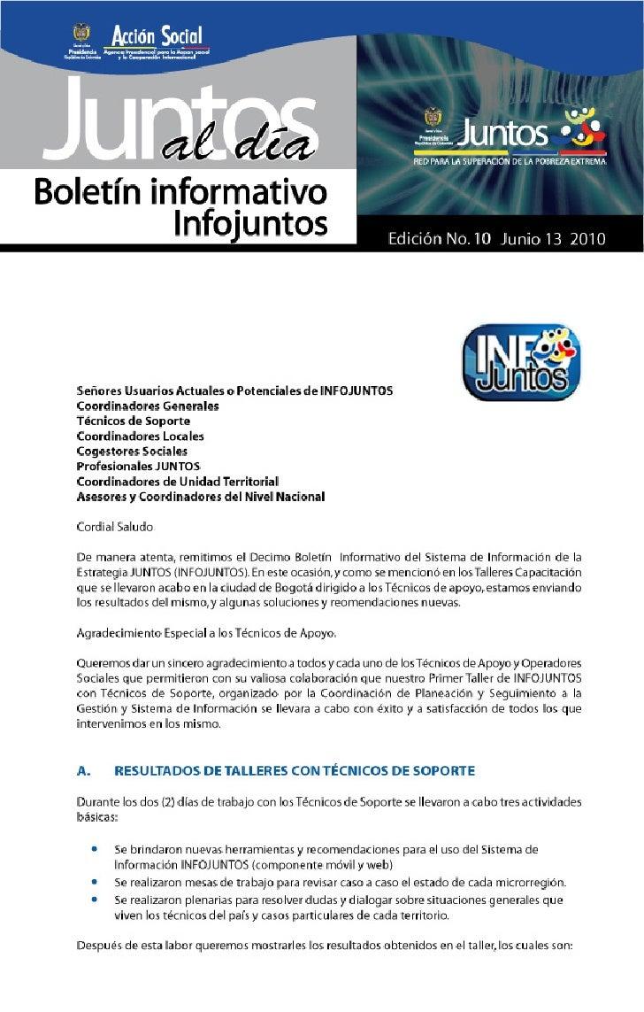 Boletin Informativo No. 10