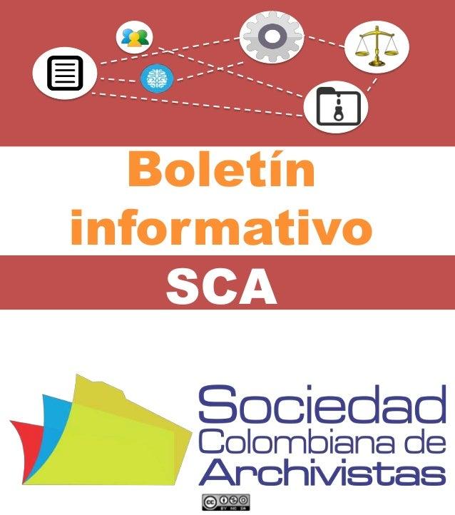 Boletín informativo SCA