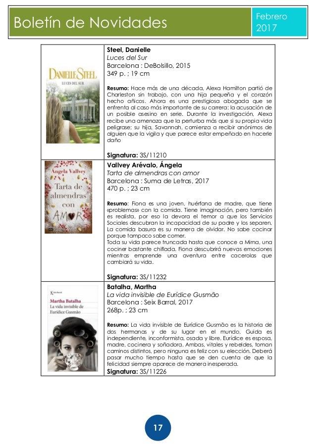 Boletín novidades de literatura. Biblioteca Provincial da Coruña. Feb…