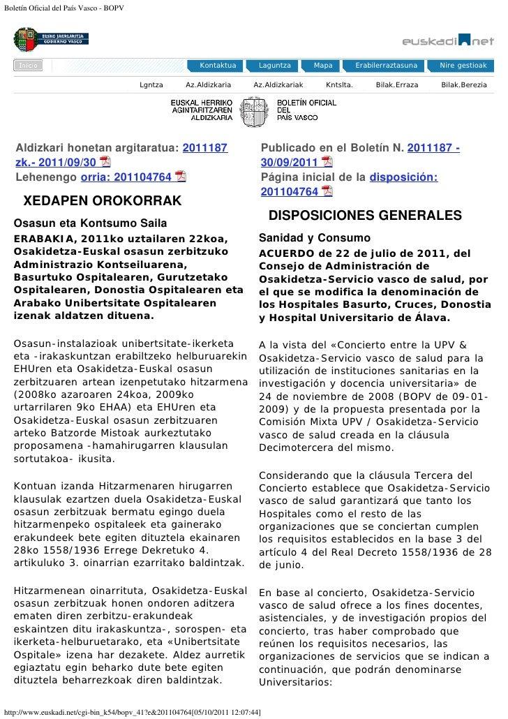 Boletín Oficial del País Vasco - BOPV                                                         Kontaktua        Laguntza   ...