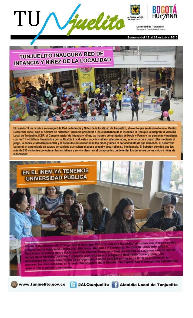 TU Boletín Virtual juelitoSemana del 13 al 18 octubre 2015