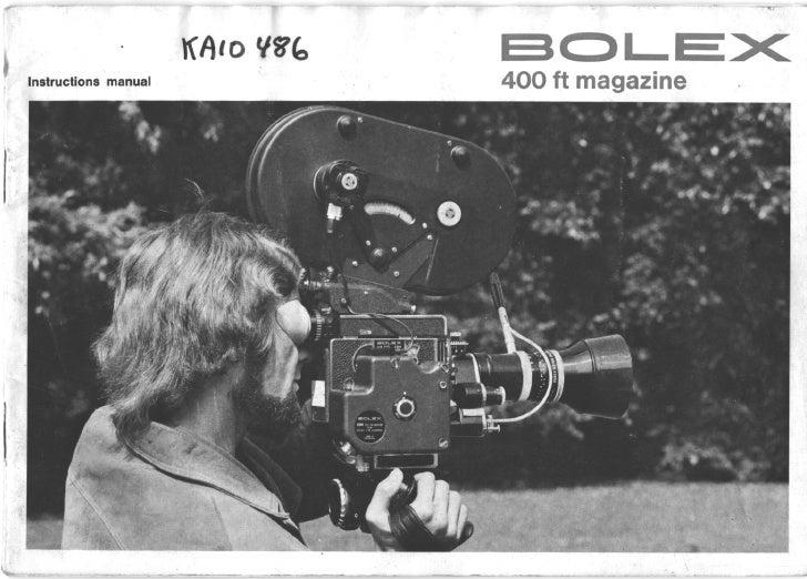 Bolex 400ft magazine 16mm_user manual_english