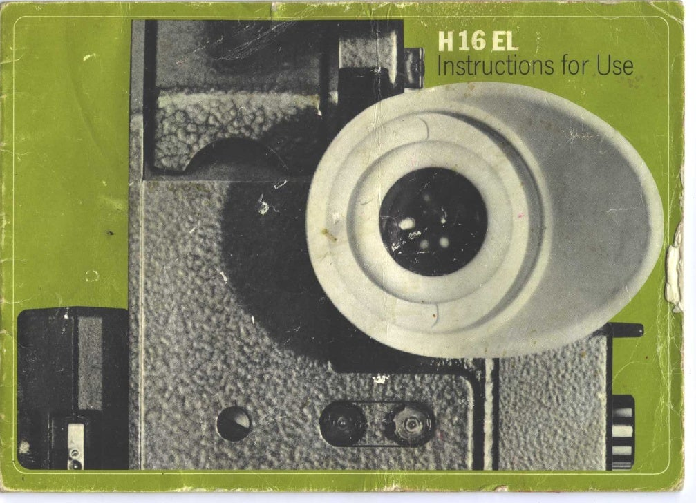 Bolex h16 electric user manual_english
