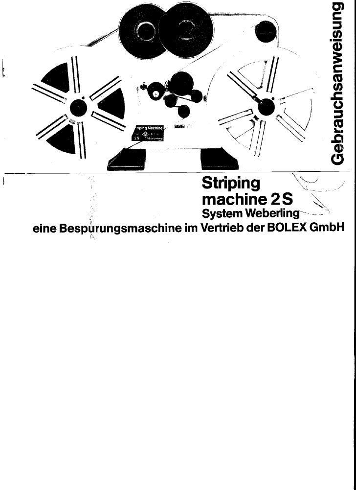 Bolex striping machine 2 s_system weberling_user manual_german