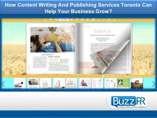 Content writing services toronto