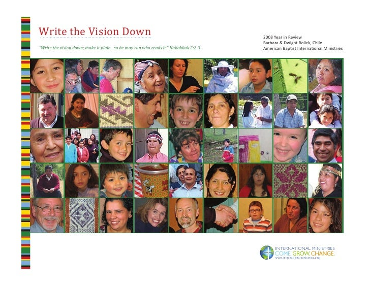 Write the Vision Down                                                                   2008 Year in Review               ...