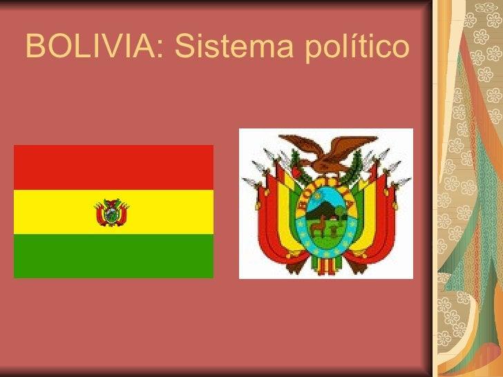 BOLIVIA: Sistema político