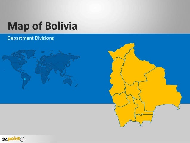 Map of Bolivia Department Divisions