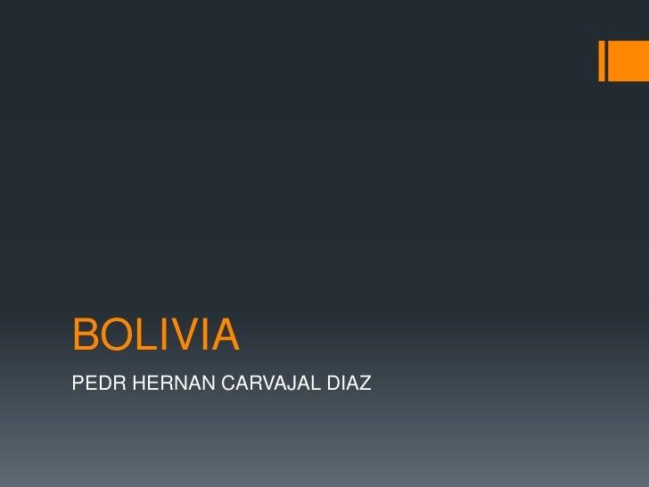 BOLIVIAPEDR HERNAN CARVAJAL DIAZ