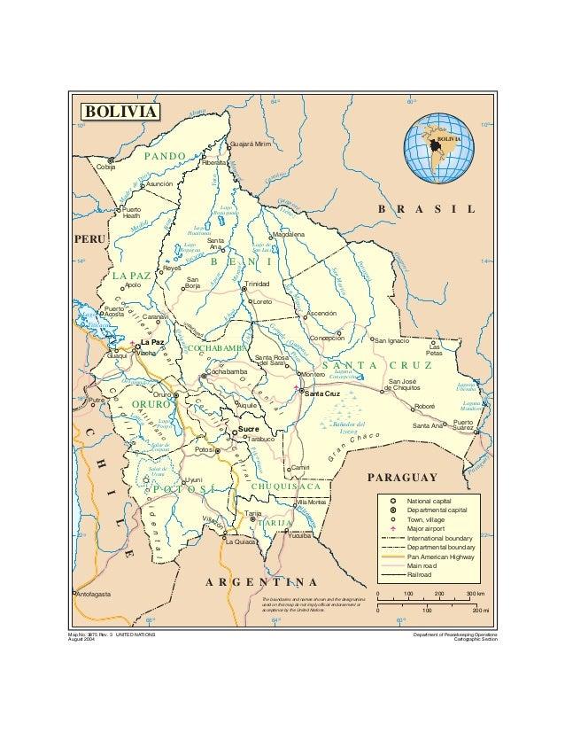 Bolivia Mapa Hidrografico