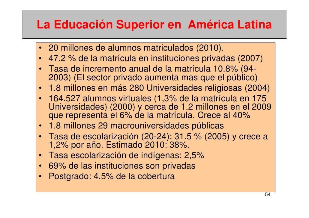 Historia de la educación superior, tendencias y nuevos ...