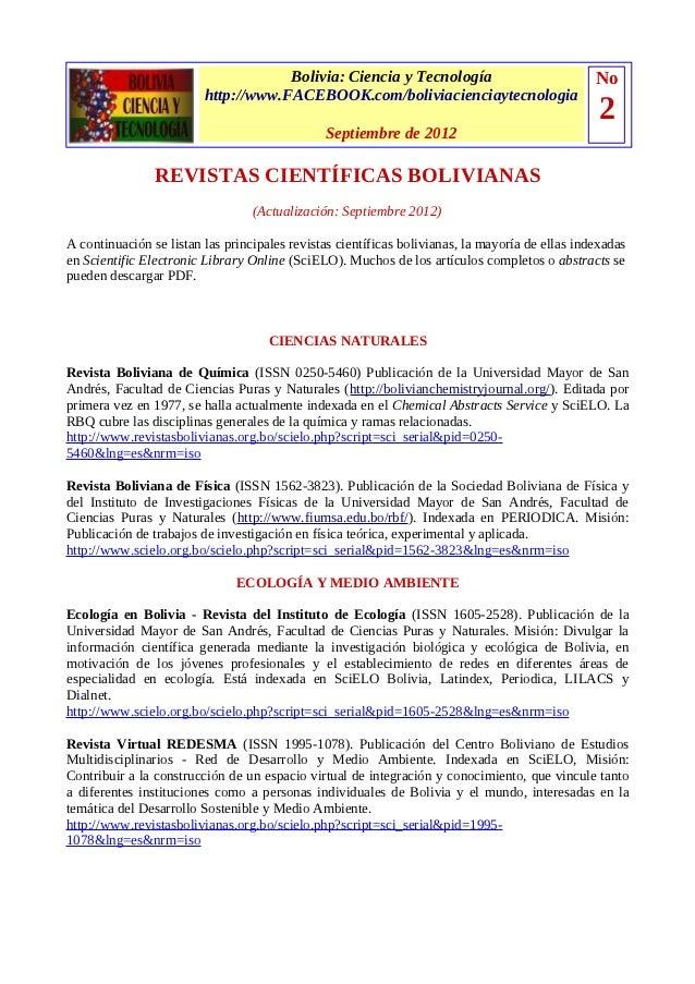 Bolivia: Ciencia y Tecnología                               No                         http://www.FACEBOOK.com/boliviacien...
