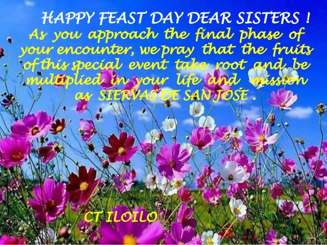 Bolivia greetings happy feast day dear sisters as you approach the final phase of your encounter m4hsunfo