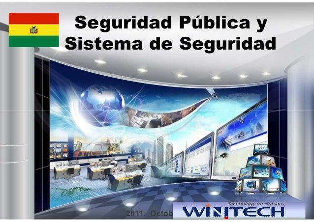 Seguridad Pública y Sistema de Seguridad 2011. October