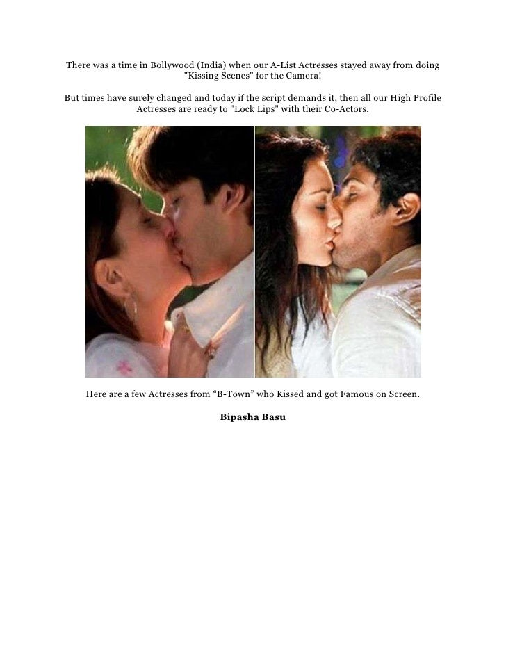 """There was a time in Bollywood (India) when our A-List Actresses stayed away from doing                           """"Kissing ..."""