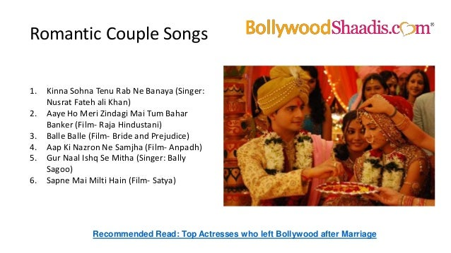 8 Romantic Couple Songs