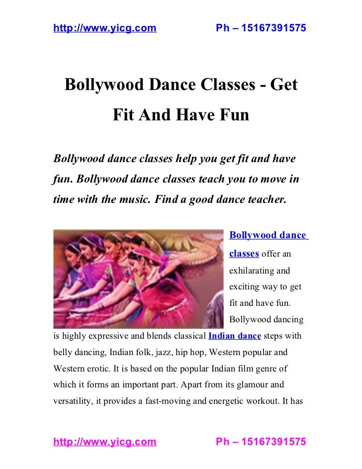 http://www.yicg.com                         Ph – 15167391575  Bollywood Dance Classes - Get                Fit And Have Fu...