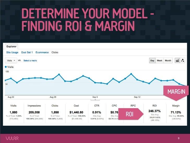 DETERMINE YOUR MODEL -FINDING ROI & MARGIN                         MARGIN                 ROI                            9