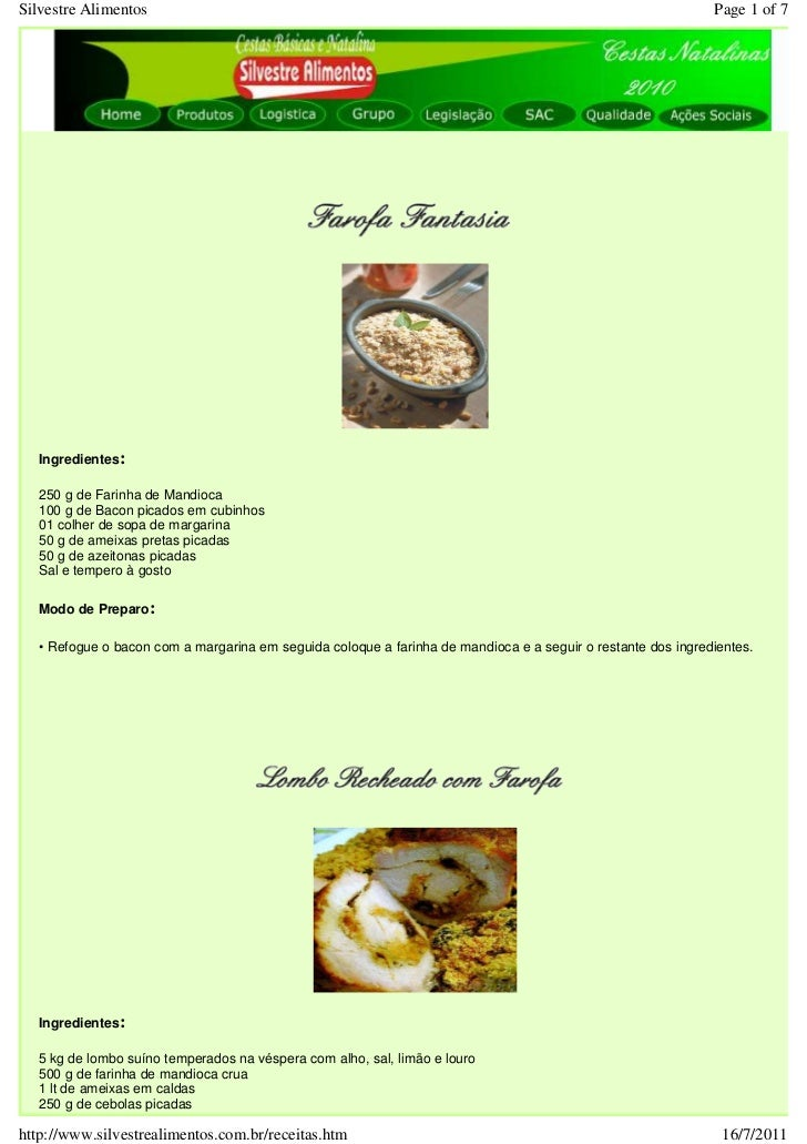 Silvestre Alimentos                                                                                          Page 1 of 7  ...
