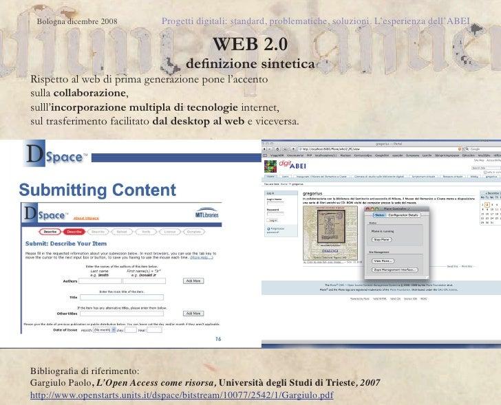 Digital library for librarians - Biblioteca digitale per bibliotecari. Slide 2