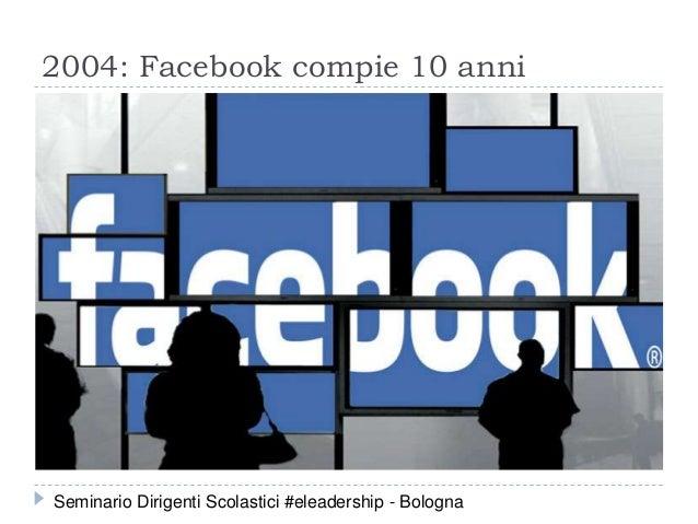 2004: Facebook compie 10 anni Seminario Dirigenti Scolastici #eleadership - Bologna