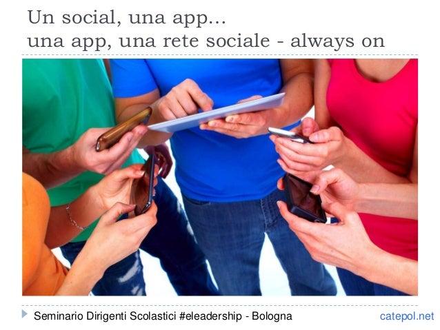 catepol.net Un social, una app… una app, una rete sociale - always on Seminario Dirigenti Scolastici #eleadership - Bologna