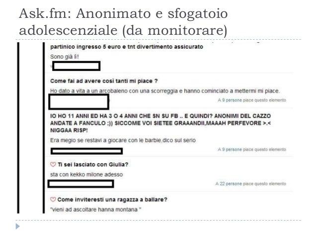 Ask.fm: Anonimato e sfogatoio adolescenziale (da monitorare)