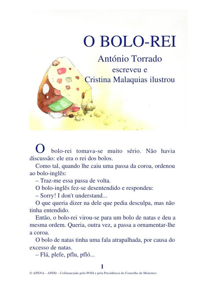 O BOLO-REI                                             António Torrado                                              escrev...