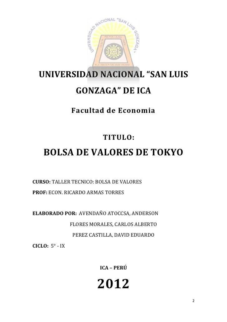 """UNIVERSIDAD NACIONAL """"SAN LUIS GONZAGA"""" DE ICA  UNIVERSIDAD NACIONAL """"SAN LUIS                   GONZAGA"""" DE ICA          ..."""