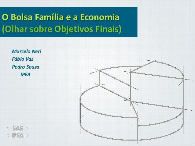 O Bolsa Família e a Economia (Olhar sobre Objetivos Finais) Marcelo Neri Fábio Vaz Pedro Souza IPEA