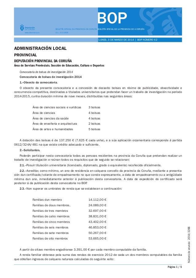 BOP BOLETÍN OFICIAL DA PROVINCIA DA CORUÑA BOLETÍN OFICIAL DE LA PROVINCIA DE A CORUÑA www.dicoruna.es  D.L.: C-1-1958  LU...