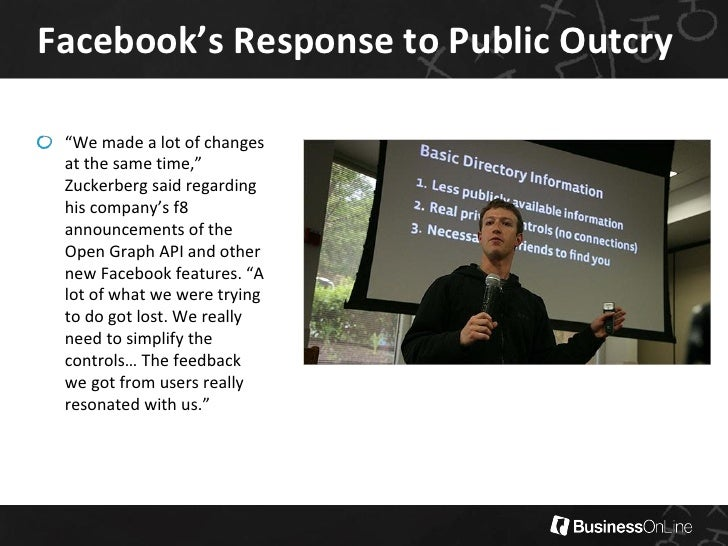 facebook privacy issues essay A look at the default privacy settings and issues of facebook and how the overall experience differs from twitter.