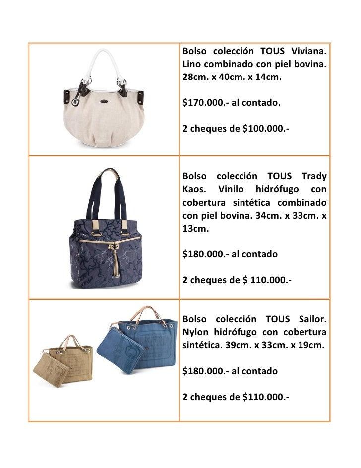 2012 Tous Primavera Bolsos Verano 2013 7gyfIY6bvm