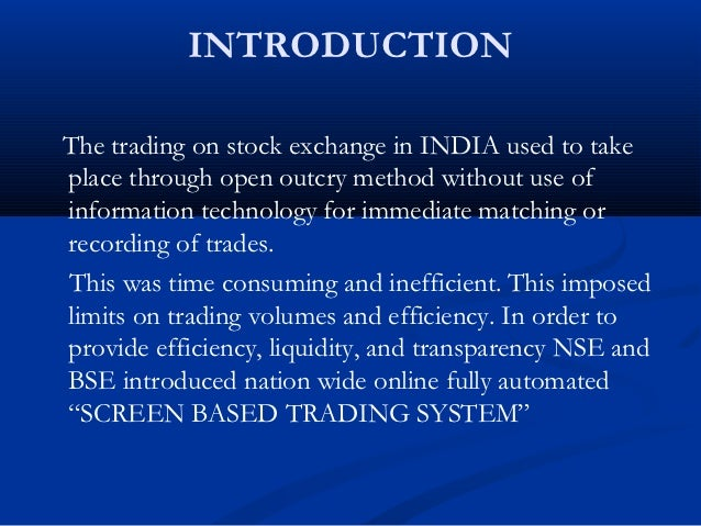 What is displayed in the neat trading system ticker screen