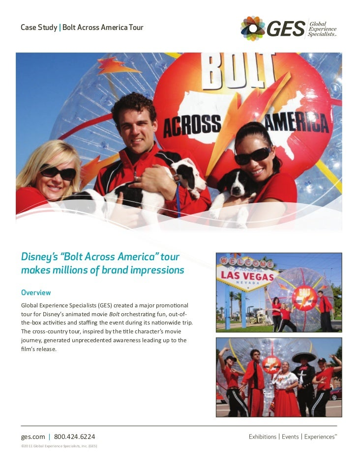 "Case Study | Bolt Across America TourDisney's ""Bolt Across America"" tourmakes millions of brand impressionsOverviewGlobal ..."
