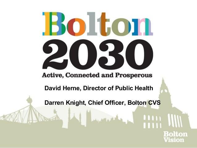 David Herne, Director of Public Health Darren Knight, Chief Officer, Bolton CVS