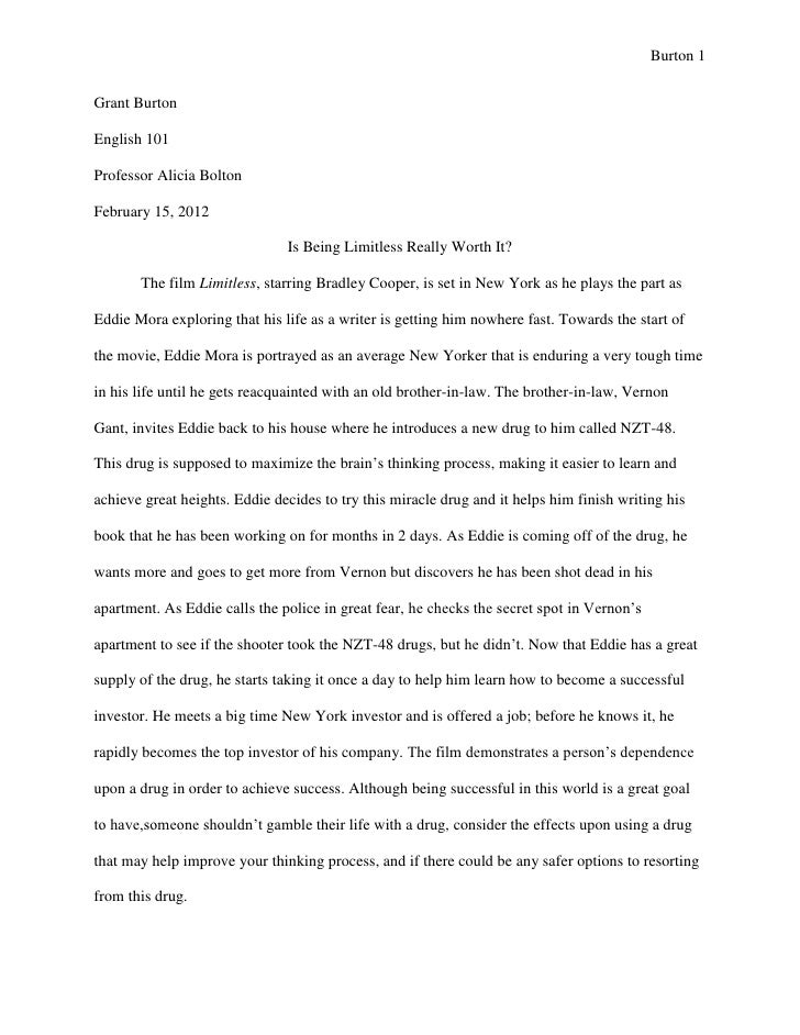 Evaluation essay examples on movies